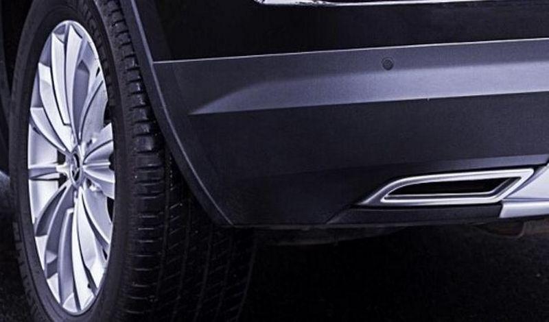 Imitace koncovky výfuku, Škoda Kodiaq, 2016->, ABS - Alu Brusch