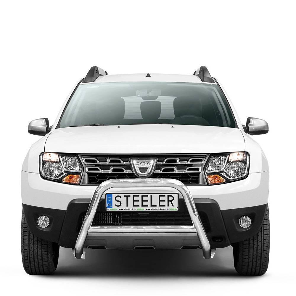 Přední ochranný rám nerez s EC homologací, Dacia Duster I, 2014 - 2017