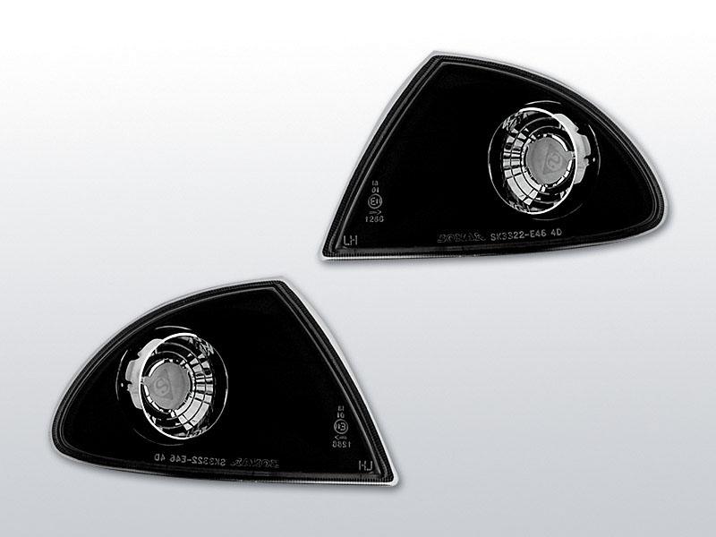 Blinkry přední, BMW E46, 1998->2001, BLACK