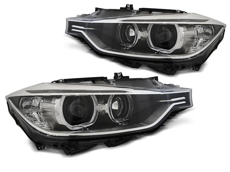 Přední světla, BMW 3 F30/F31, 2011-2015, ANGEL EYES LED BLACK