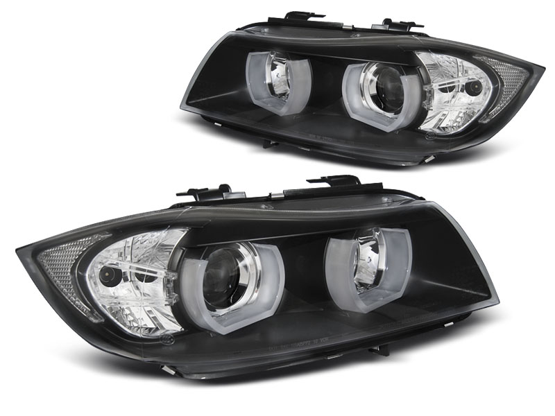 Přední světla, BMW 3 E90/E91, 2005-2008, 3D U-TYPE BLACK HID
