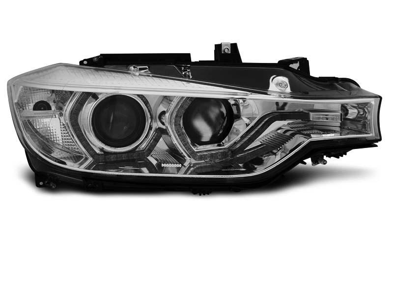 Přední světla, BMW 3 F30/F31, 2011-2015, ANGEL EYES LED CHROME DRL