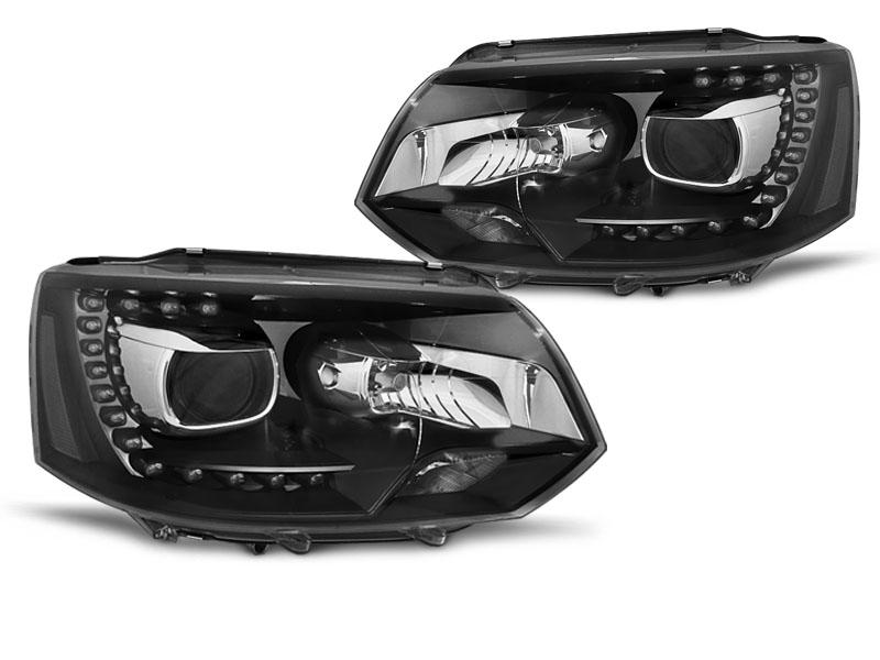Přední světla, VW T5, 2010-2015, TRU DRL XENON LOOK BLACK