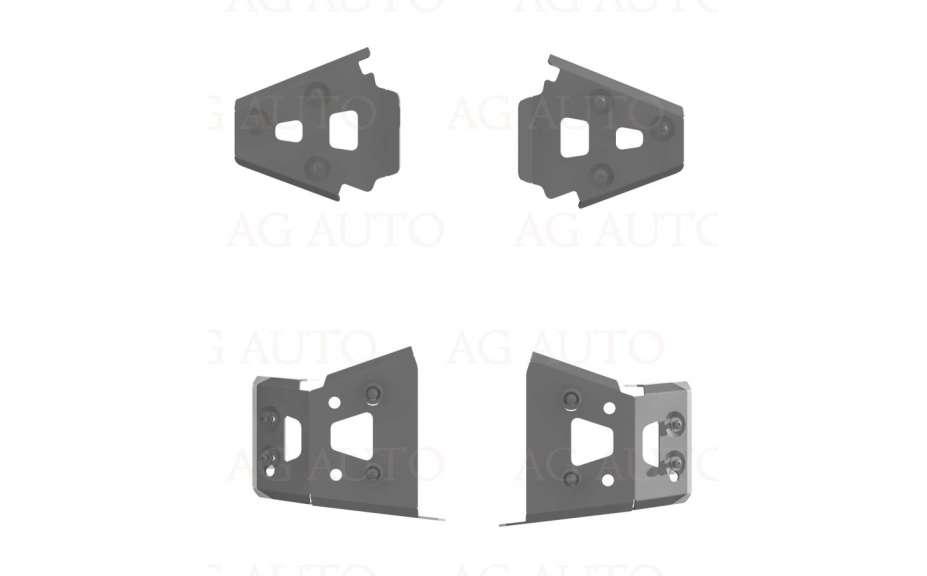 Kryty poloos (přední+zadní), Dinli DL702L, 2010->, Hliník 4mm