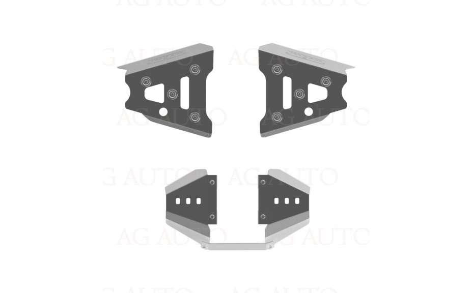 Kryty předních poloos a zadní redukční převodovky, Can-Am (Bombardier) Outlander, 2011->, Hliník 4mm