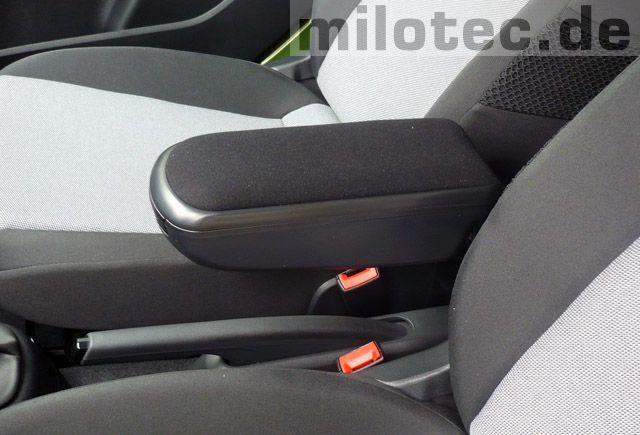 Loketní opěrka Milotec - černý semiš, Škoda Octavia III, 2013-> Sedan / Combi