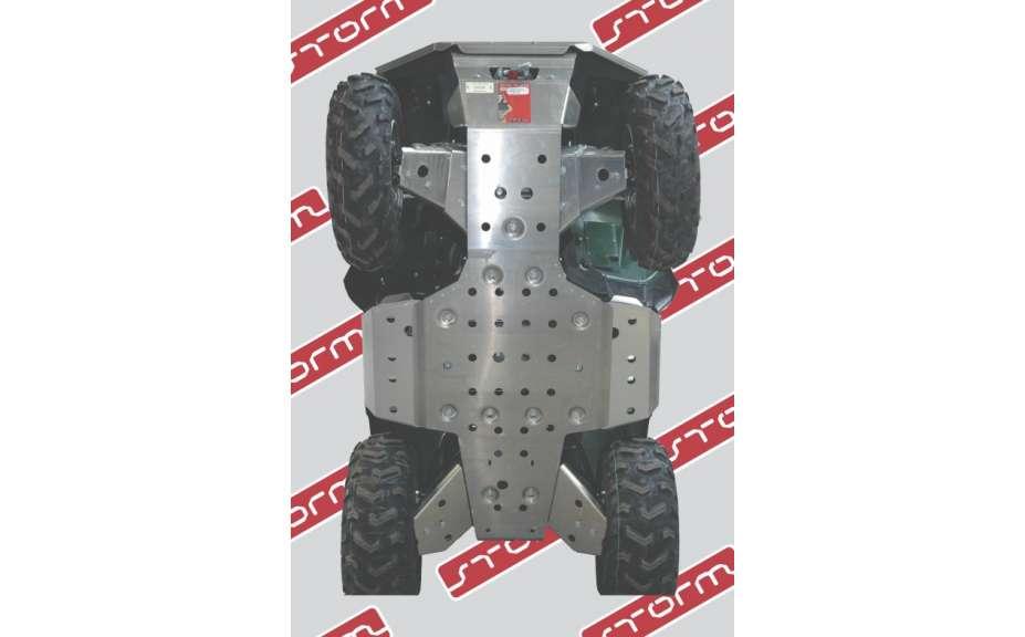 Kompletní sada krytů podvozku bez eloxování, Dinli DL703, 2011->, Hliník 4mm