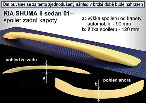 Spoiler na kapotu, KIA Shuma II, 01->